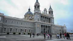 Spain - Madrid, City 22 - Almudena Cathedral - stock footage
