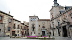 Spain - Madrid, City 23 - Plaza Villa Stock Footage