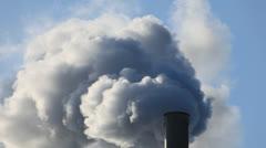 Factory smokestack Stock Footage
