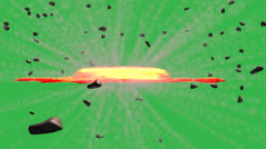 Planet Explosion with Green Screen Stock Footage