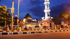 Time lapse of mosque at night Stock Footage