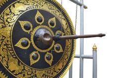 gong on white background - stock photo