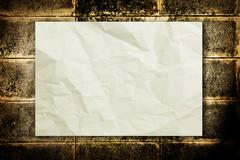 Stock Photo of paper on wall