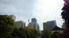 Tokyo Japan Skyline Building Under Construction - stock footage