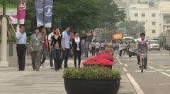Digital City of Samsung Electronics Stock Footage