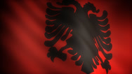 Stock Video Footage of Flag of Albania