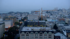 Foggy Morning in San Francisco Stock Footage
