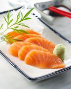 sake sashimi - stock photo