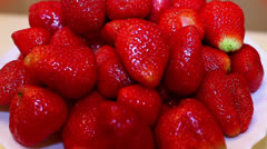 Fresh Ripe Strawberries Stock Footage