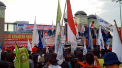 Workers Protest Over Fuel Price Hike Stock Footage