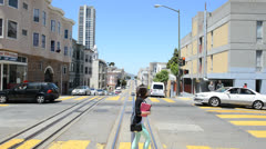 Time Lapse Driving San Francisco Hills Daytime Stock Footage
