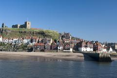 whitby in north yorkshire - stock photo