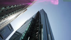 Tokyo Japan Looking Up At High-Rise Buildings 3 - stock footage