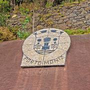 Porto moniz, emblem Stock Photos