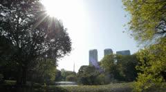 Tokyo Japan From Hamarikyu Gardens 3 Stock Footage