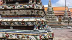 Buddhist stupa thailand Stock Footage