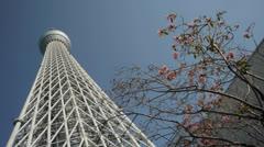 Tokyo Sky Tree 3 Stock Footage
