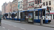 Tram in Amsterdam, Netherlands Stock Footage