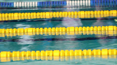 Lanes in the pool Stock Footage