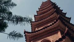 Temple Tran Quoc Pagoda in Vietnam Stock Footage