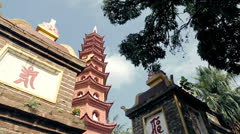 Temple in Vietnam Stock Footage