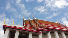 Buddhist temple thailand Stock Footage