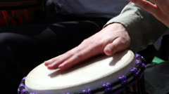 Hands playing drums Stock Footage
