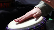 Stock Video Footage of Hands playing drums