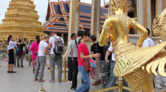 Buddhist temple complex thailand Stock Footage