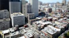Time Lapse of Traffic In Downtown San Francisco Stock Footage