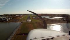 Cessna Landing at Bay Bridge (POV) Stock Footage