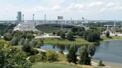 Olympic stadium Munich Stock Footage