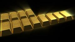 Growing Gold Bricks Pyramid Stock Footage