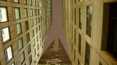 Time Lapse of the Transamerica Building at Night in San Francisco Stock Footage