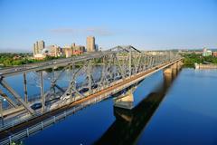alexandra bridge - stock photo