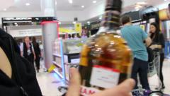 Liqueur purchesing Stock Footage