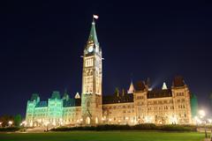 Ottawa parliament hill building Stock Photos