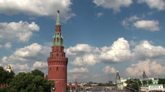 View of Moscow Kremlin Tower. Stock Footage
