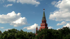 View of Moscow Kremlin Towers. Stock Footage
