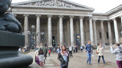 BRITISH MUSEUM IN LONDON 1 Stock Footage