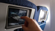 Stock Video Footage of Airplane entertainment console