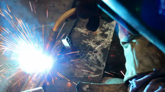 Welding flame Stock Footage