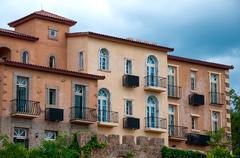 Stock Photo of classical villa, town in european style