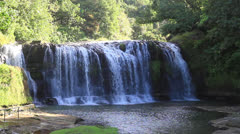 Long shot of Talofofo Falls Guam - stock footage