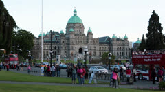 Victoria British Columbia Canada Parliament Building tourist HD 7881 Stock Footage