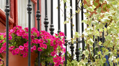 Typical Andalusian balcony, close up Stock Footage