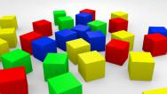Stock Video Footage of Colorful Cubes 01
