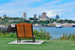 Quebec city skyline Stock Photos