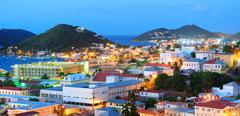Stock Photo of st thomas mountain view in early morning