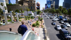 Time Lapse of the Las Vegas Strip Day Stock Footage